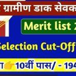 Bihar Post Office GDS Merit List 2021