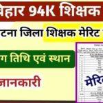 Patna Bihar Teacher Merit List 2020-21