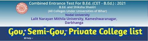 Bihar BEd College list 2021 pdf