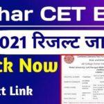 Bihar CET BEd Result 2021