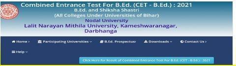Bihar CET BEd Result 2021 Check