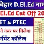 Bihar DElEd Cut Off list
